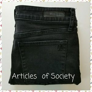 ARTICLES OF SOCIETY SKINNY JEANS BLACK, SIZE 28